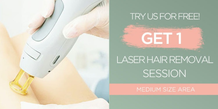 Get 1 Free Laser Hair Removal Session (Up to a Medium Area) +$50 Gift Card you can apply on any service bought in the month of May.  - Partner Offer Image