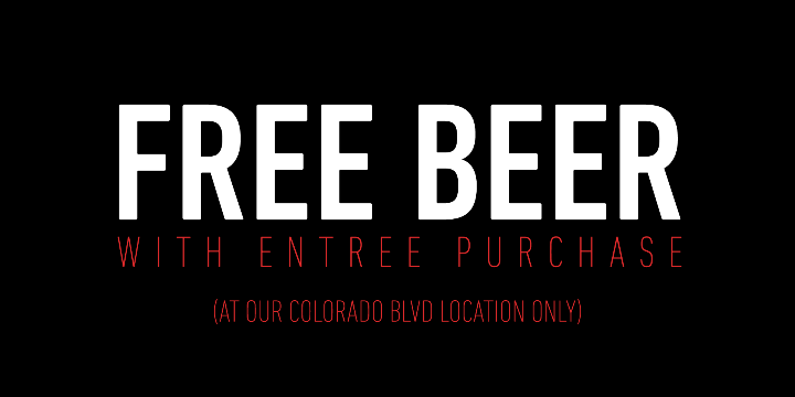 FREE BEER (Colorado Blvd. Location Only) - Partner Offer Image