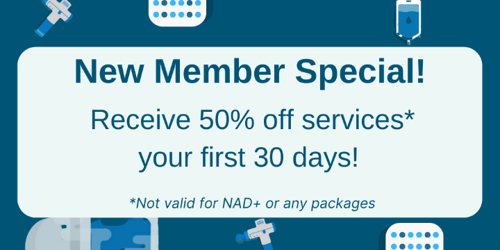 NEW Membership Special | 50% off services* your first month! | Limited Time ONLY offer image