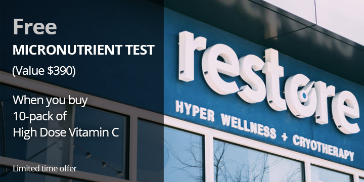 Free Micronutrient Test when you buy 10-pack of High Dose Vitamin C, Save $390. - Partner Offer Image