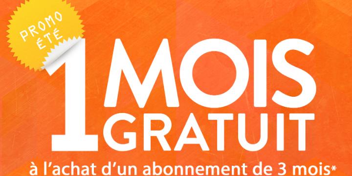 1 mois GRATUIT à l'achat d'un 3 mois illimité! offer image