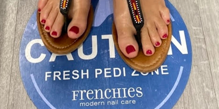 $10 OFF First Pedicure Or Manicure at Frenchies! offer image