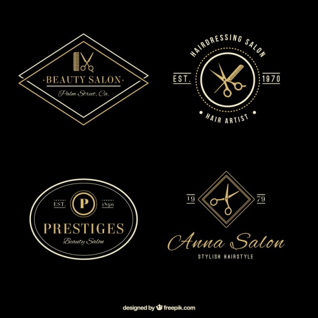Top Hair Salon Logo