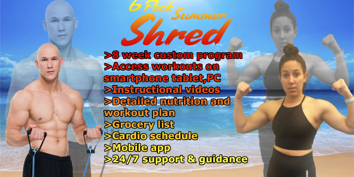 $36 for 70% OFF SUMMER SHRED CHALLENGE at Just In Time Fitness (70% discount) offer image