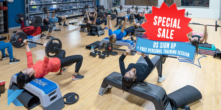 $0 Sign-up fees with one free personal training session! 💪 Only from February 27th-29th offer image
