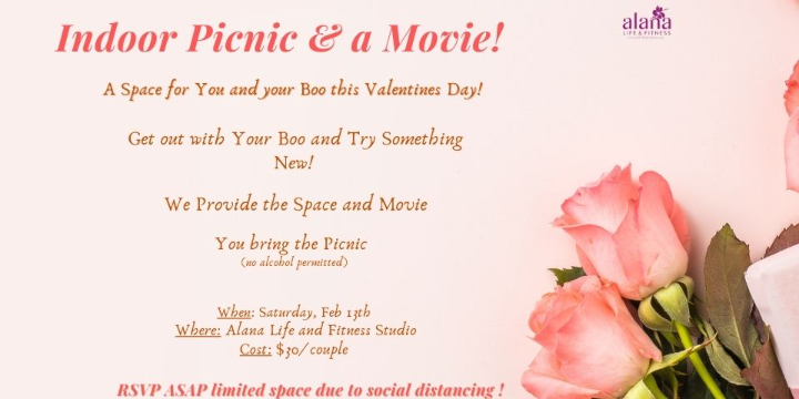 $30 for Indoor Picnic & a Movie! at Alana Life & Fitness (40% discount) - Partner Offer Image
