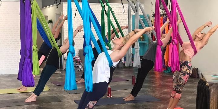 25% Off Aerial Class at Hang Out Yoga offer image