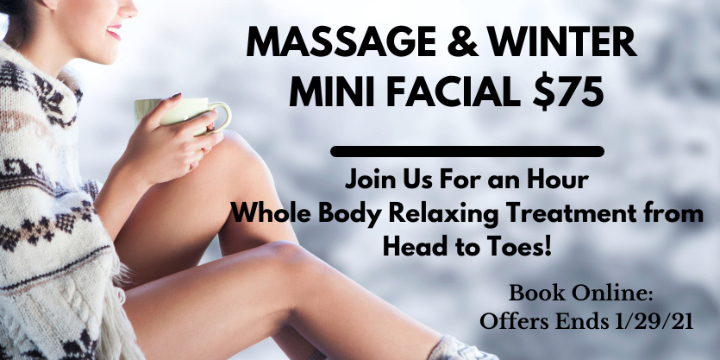 Swedish Massage with FREE Winter Mini Facial  offer image