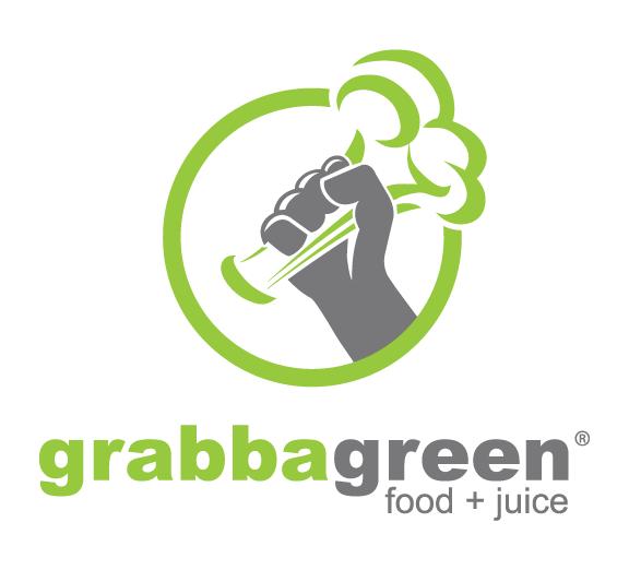 Grabbagreen Food +Juice Logo