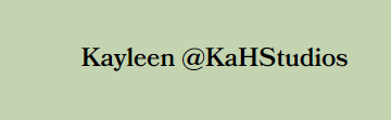 Kayleen @ KAH Studios Logo
