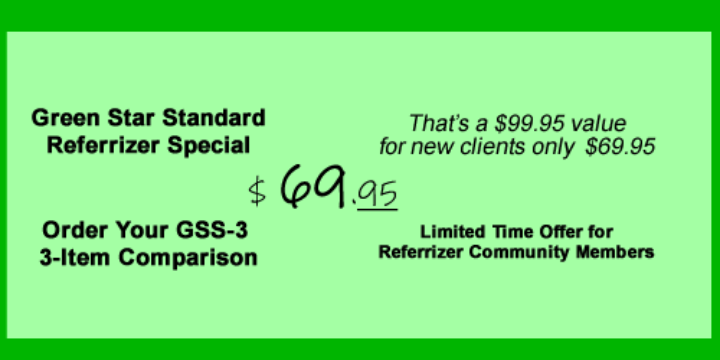 $69.95 for GSS-3 3-Item Comparison at Green Star Standard (30% discount) - Partner Offer Image