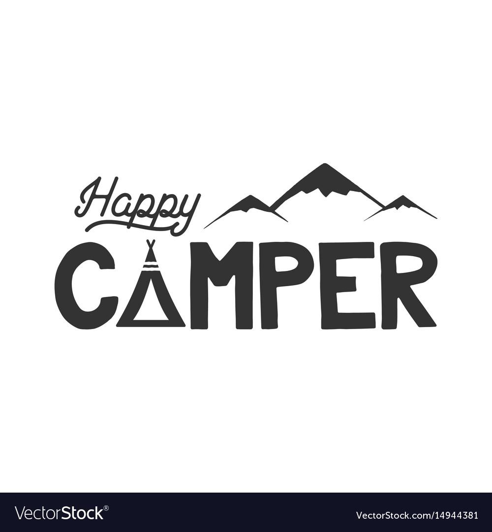 A Happy Camper Logo