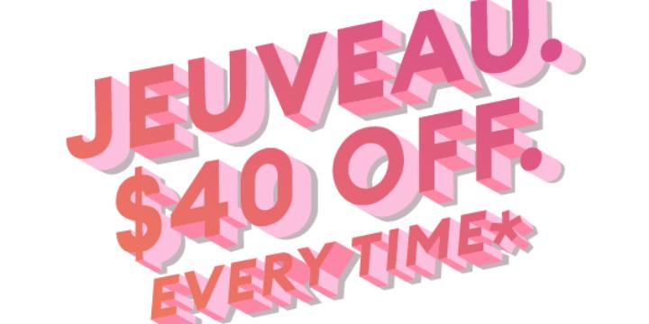$40 Off Jeaveau (Like Botox) - Partner Offer Image