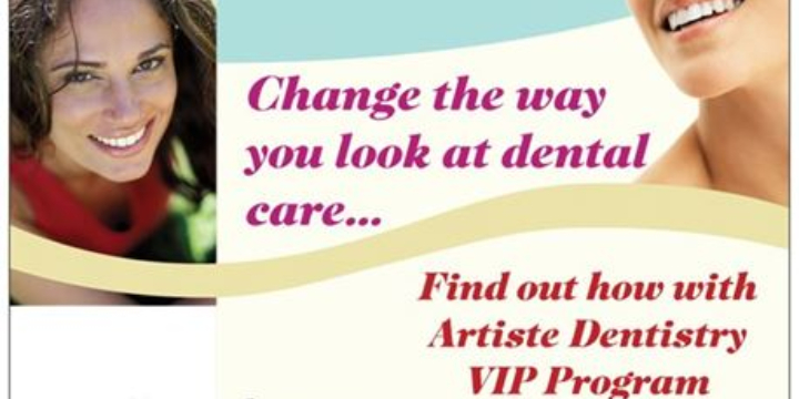 No Insurance - No Problem - Artiste Dentistry VIP Membership Program - Partner Offer Image