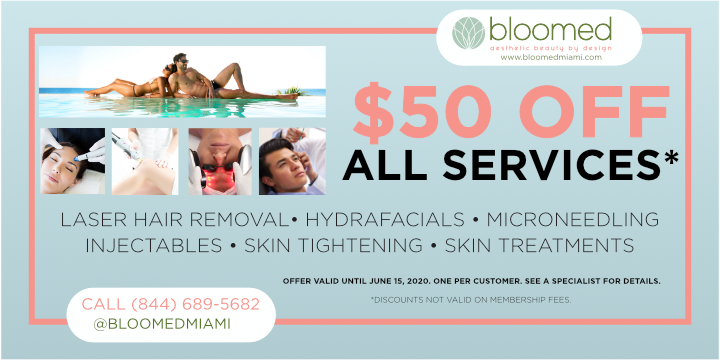 $50 OFF ANY SERVICE UNTIL JUNE 15, 2020. BOOK TODAY! - Partner Offer Image