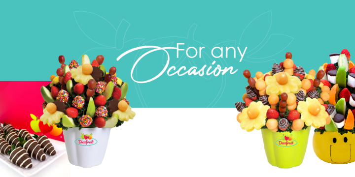 Buy any Fruit Bouquet and get 1 FREE Dozen of Chocolate Strawberry Box - Partner Offer Image