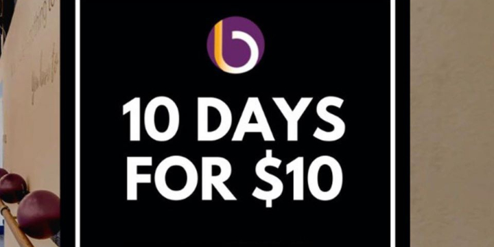 ONLY $10 for 10 Days of Unlimited Classes  offer image