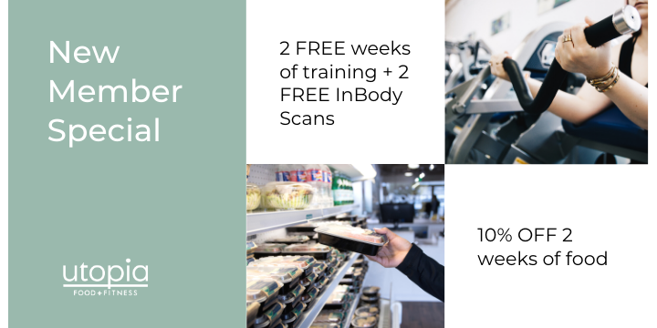 2 FREE weeks of training + 2 FREE InBody Scans + 10% OFF 2 weeks of food offer image