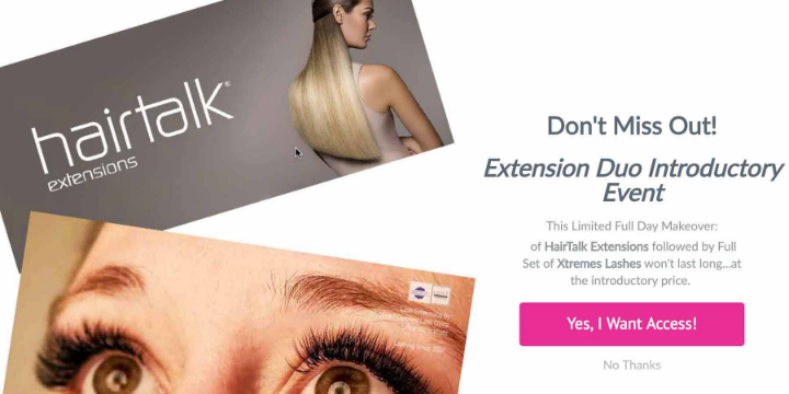 Limited Time!  $1195.00 -- Full Set of HairTalk Tape Extensions & Full Set of Xtreme Lashes at Loft Salon Studio Hair Extensions & Photography (8% discount) offer image