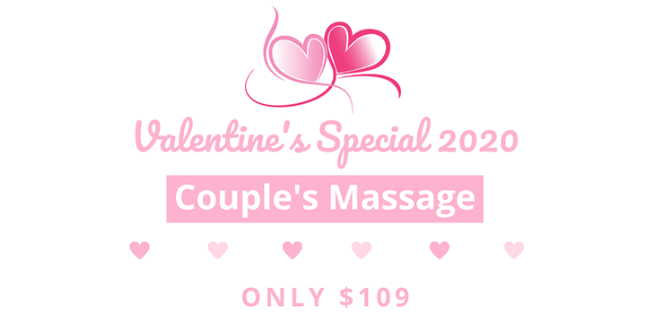 ONLY $109 for Valentine's Special 2020  Couple's Massage (60 minutes) offer image