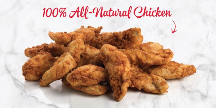 FREE Chicken Tenders with Purchase of Large Drink offer image
